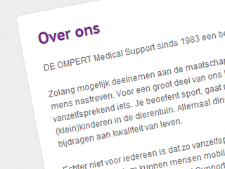Over DE OMPERT Medical Support